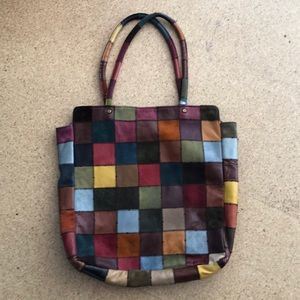Pre loved lucky brand patchwork tote  🍀
